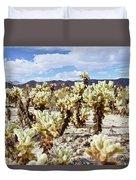 Cholla Desert Garden Duvet Cover