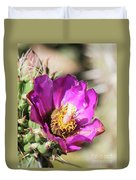 Cholla Flower Duvet Cover