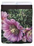 Cholla Flowers Duvet Cover