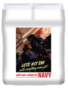 Choose The Navy -- Ww2 Duvet Cover