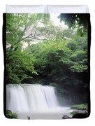 Chosi Otaki Falls Duvet Cover