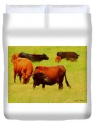 Chow Time Duvet Cover
