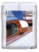 Chris Craft Enclosed Cruiser Duvet Cover