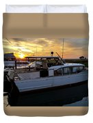 Chris Craft In The Evening  Duvet Cover