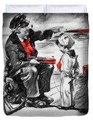 Chris-craft Sailor And Sailor Vintage Ad Duvet Cover