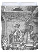 Christ Among The Doctors In The Temple 1503 Duvet Cover