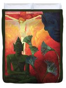 Christ And Buddha Duvet Cover by Paul Ranson