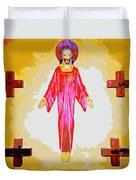 Christ And Crosses Duvet Cover