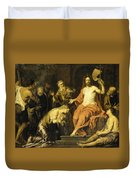 Christ And The Penitent Sinners Duvet Cover