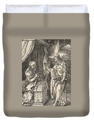 Christ Appearing To His Mother, From The Small Passion Duvet Cover
