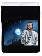 Christ At Night Duvet Cover