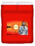 Christ At Sunrise Duvet Cover