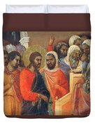 Christ Before Caiaphas Fragment 1311 Duvet Cover