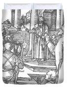 Christ Before Pilate 1511 Duvet Cover