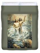 Christ Being Baptised Duvet Cover