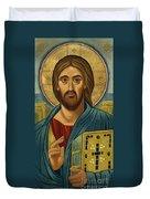 Christ Blessing - Jccbl Duvet Cover