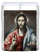 Christ Blessing, The Saviour Of The World Duvet Cover