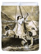 Christ Calming The Storm Duvet Cover