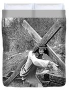 Christ Carrying Cross, Vadito, New Mexico, March 30, 2016 Duvet Cover