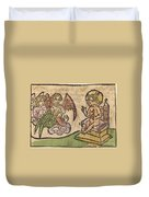 Christ Child With Three Angels Duvet Cover