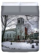 Christ Church In Cambridge Duvet Cover by Wayne Marshall Chase