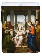 Christ Disputing With The Doctors In The Temple Duvet Cover