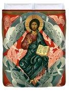 Christ Enthroned - Rlcen Duvet Cover