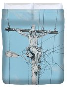 Christ From Mexico Duvet Cover