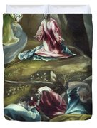Christ In The Olive Garden Duvet Cover