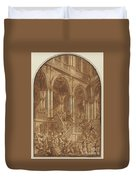 Christ Led Captive From A Palace Duvet Cover