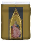 Christ Of The Apocalypse   Central Pinnacle Panel Duvet Cover