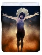 Christ Of The Cosmos Duvet Cover