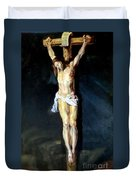 Christ On The Cross After Peter Paul Rubens Duvet Cover