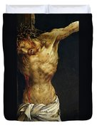 Christ On The Cross Duvet Cover by Matthias Grunewald