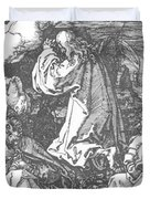 Christ On The Mount Of Olives 1511 Duvet Cover