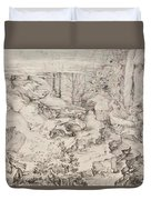 Christ On The Mount Of Olives 1521 Duvet Cover