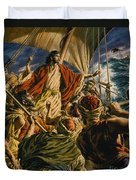 Christ On The Sea Of Galilee Duvet Cover by Jack Hayes