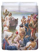 Christ Preaching From The Boat Duvet Cover