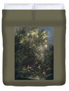 Christ Served By The Angels Duvet Cover