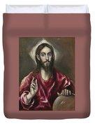 Christ The Saviour Duvet Cover