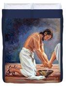 Christ The Servant Duvet Cover