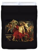 Christ Triumphant Over Sin And Death Duvet Cover