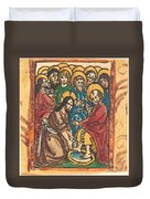 Christ Washing The Feet Of The Apostles Duvet Cover
