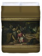 Christ Washing The Feet Of The Disciples Duvet Cover