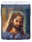 Christ With Thorns Duvet Cover