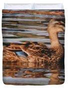 Christchurch New Zealand Grey Duck Duvet Cover