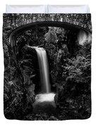 Christine Falls - Mount Rainer National Park - Bw Duvet Cover