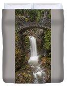 Christine Falls Mt Rainier Washington Duvet Cover