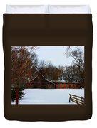 Christmas @ The Barn Duvet Cover
