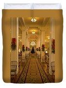 Christmas At The Mount Washington Hotel Duvet Cover